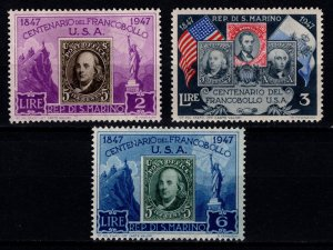 San Marino 1947 Centenary of First USA Postage Stamp, Part Set [Unused]
