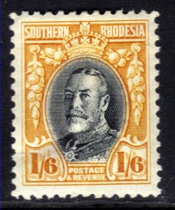 Southern Rhodesia 1931 - 37 KGV 1/-6d MM SG 24 small thin on back ( E478 )