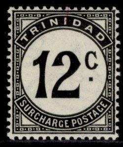 TRINIDAD & TOBAGO GVI SG D31, 12c black, M MINT. ORDINARY PAPER