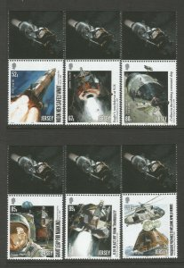 Jersey 2019 Man On The Moon 50th Anniversary 6v Set unmounted mint MNH