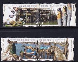 Hong Kong  2005, Fishings Villages MNH Pairs set # 1160-1163