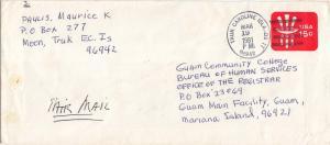Caroline Islands 15c Uncle Sam Envelope 1981 Truk Caroline Islands 96942 to G...