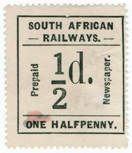 (I.B) South Africa Railways : Newspaper Parcel ½d (English)