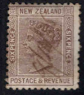 New Zealand Scott 65 Used 1882 issue manuscript cancel