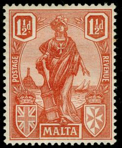 MALTA SG127, 1½d brown-red, M MINT.