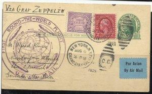 570 50c Used Graf Zeppelin Flown Postcard  August 6, 1929