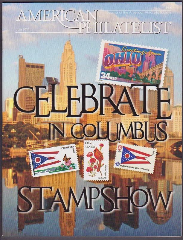 APS Magazine Jul 2011 , Celebrate in Columbus StampShow - I Combine S/H