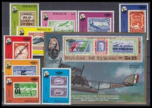 Paraguay stamp Rowland Hill airplane stamps set + block MNH 1979 WS127980