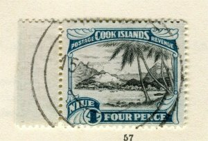 NIUE; 1932 early pictorial issue used Wmk 4d. value