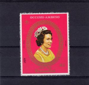 Timor (Ocussi-Ambeno) 1978 Coronation 25th.Anniv Set (1) Perforated MNH