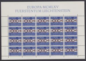Liechtenstein Ancient Belt-buckle Europa 1965 issue Full Sheet SG#447 SC#400