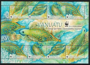 Vanuatu Orange Spot Fish WWF MS SG#MS1152 MI#1496-1499