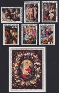 Upper Volta Rubens Paintings 6v+MS 1977 MNH SG#458-MS464 SC#446-451 CV£15.25