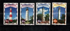 Lighthouses of Barbados...4 var..mnh