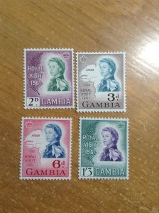 Gambia  # 168-71  MH