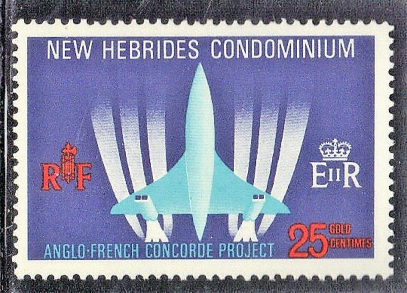 NEW HEBRIDES  BRITISH 1968 MN CONCORDE SEE SCAN