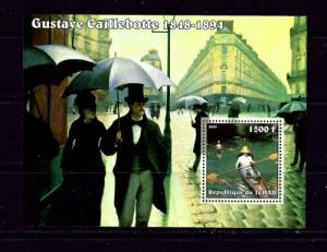 Chad 2002 Gustave Caillebotte souvenir sheet of 1 NH