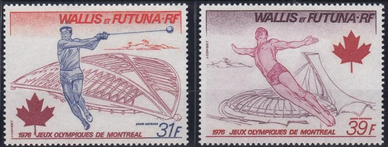 Wallis and Futuna C70-C71 MNH (1976)