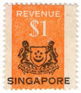(I.B) Singapore Revenue : Duty Stamp $1