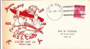 1943, USS Carp, SS-338, Keel Laid (N5760)