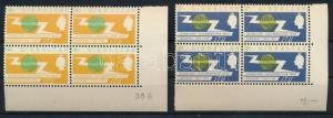Gibraltar stamp ITU corner blocks of 4,4p inverted watermark 1965 MNH WS221908