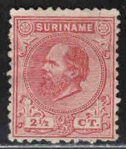 Surinam # 3 ~ Used, HMR, PM ~ vert tear top right perf 2