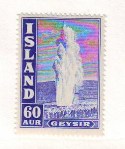 Iceland Sc208A 1943 60 aur Geyser stamp mint