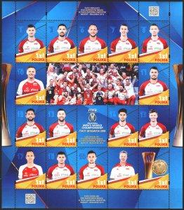 Poland. 2018. Small sheet 2063-78. Volleyball, champions. MNH.