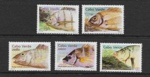 FISH - CAPE VERDE #765-9  MNH