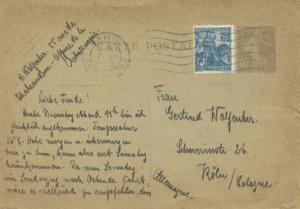 France 50c Joan of Arc Orleans Anniversary on 40c Sower Postal Card 1929 Pari...
