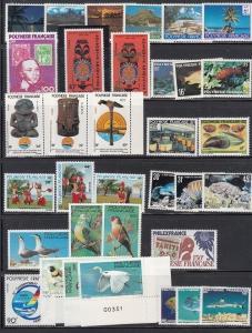 French Polynesia Scott 313 // 375 Mint NH (Catalog Value $61.90)