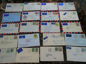 Lot 20 Australia Airmail Covers to Europe 1951-1965
