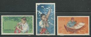 1957 Laos Scott Catalog Number 34-36 Unused Never Hinged