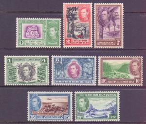 Br Honduras Scott 115/122 - SG150/157, 1938 George VI 1c - 25c MH*
