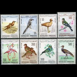 TUNISIA 1965 - Scott# C25-32 Birds Set of 8 LH