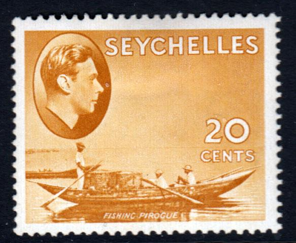 Seychelles KGVI 1938 20c Brown-Ochre SG140b Mint Hinged