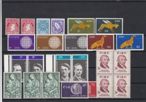 Ireland Eire Famous People Symbols + other Mint Never Hinged Stamps ref 22073