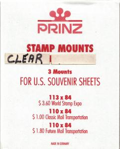 PRINZ CLEAR MOUNTS WSESS (3) RETAIL PRICE $3.50