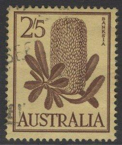 AUSTRALIA SG325 1960 2/5 BROWN/YELLOW FINE USED