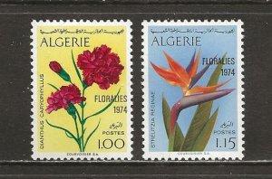 Algeria Scott catalog # 518-519 Unused Hinged