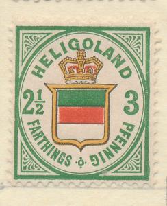 Heligoland Stamp Scott #20 (Reprint?), Mint/Unused No Gum - Free U.S. Shippin...