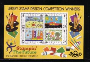 Jersey Sc  940a 2000 Stampin the Future stamp souvenir sheet mint NH