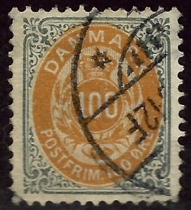 Denmark SC#34 Used F-VF SCV $60.00... Fill a bargain spot!