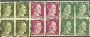 Stamp Selection Germany Block WWII Fascism Hitler War MNH
