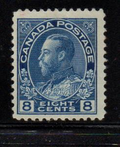 Canada Sc 115 1925 8c blue GV Admiral issue stamp mint NH