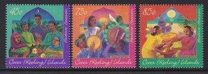 316-18 Cocos Islands 1996 Festive Season MNH