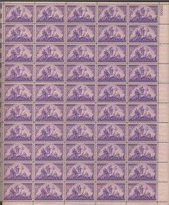 US Stamp - 1940 Coronado Expedition - 50 Stamp Sheet - Scott #898