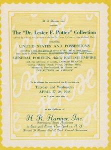 L. F. Potter Collection, H.R. Harmer, N.Y., Sale #466-467, April 27-28, 1948