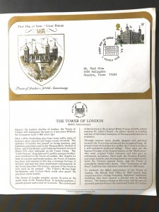 GB #831 Addressed FDC Tower of London