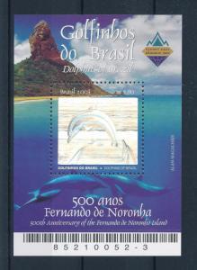 [47464] Brazil Brasilien 2003 Marine life Dolphins Hologram MNH Sheet
